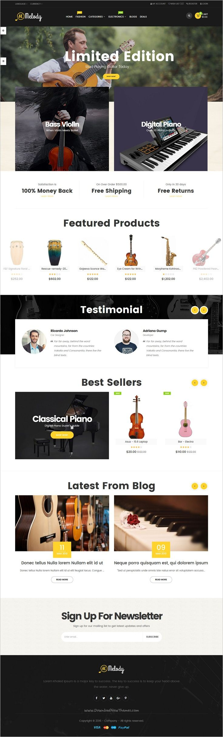 Pav Melody is a creative and powerful 4in1 #Opencart theme for #musical #instruments online shop eCommerce #website download now➩ https://themeforest.net/item/pav-melody-best-musical-instruments-opencart-theme/18851193?ref=Datasata
