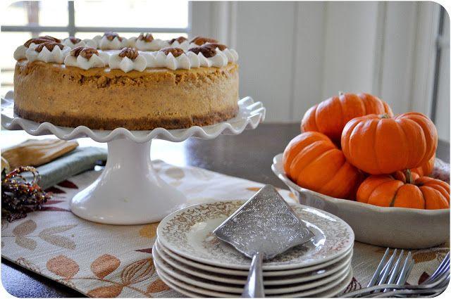 Spiced Pumpkin Cheesecake...Alternative dessert for Thanksgiving??