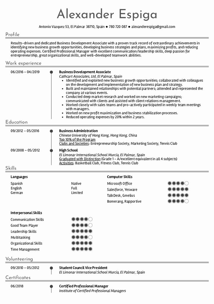 business development resume example inspirational resume examples by real people business