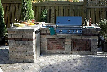 simple backyard our door grill and mini kitchen
