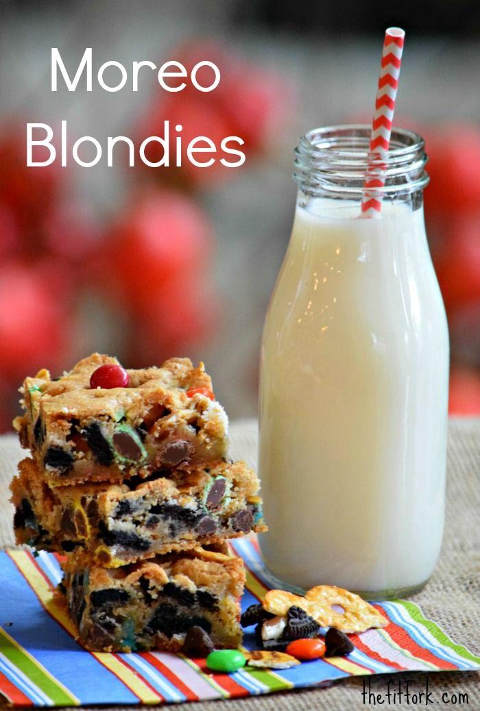 Moreo Blondies - oreos, pretzels, M&Ms, dark chocolate ...