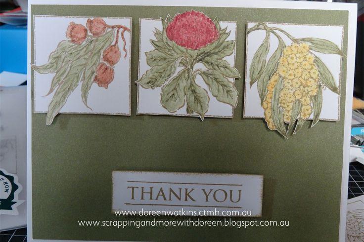 www.scrappingandmorewithdoreen.blogspot.com.au  Card using the NEW CTMH Australasian Stamps - Australian Salutations (C1586)