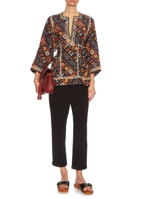 Isabel Marant Topaz printed silk top