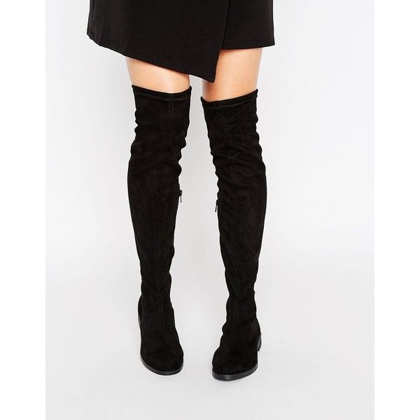 Best 25  Thigh high boots flat ideas on Pinterest   Suede flat ...