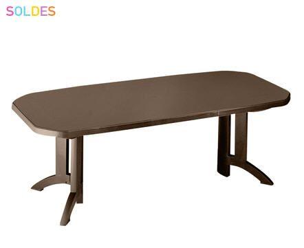 soldes table jardin grosfillex taupe prix promo soldes la maison de valerie u20ac ttc au - Grosfillex