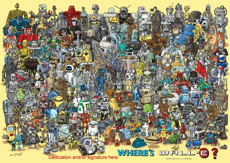 Found a lot more interesting robots other than Wally.