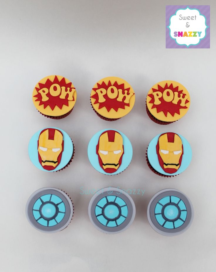 Iron Man Cupcakes by Sweet & Snazzy https://www.facebook.com/sweetandsnazzy