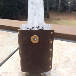 Leather Bottle Holder-Koozie