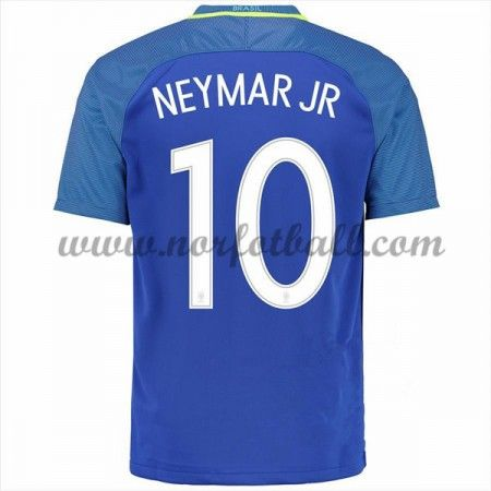 Brasil 2016 Landslagsdrakt Neymar JR 10 Kortermet Borte Fotballdrakter