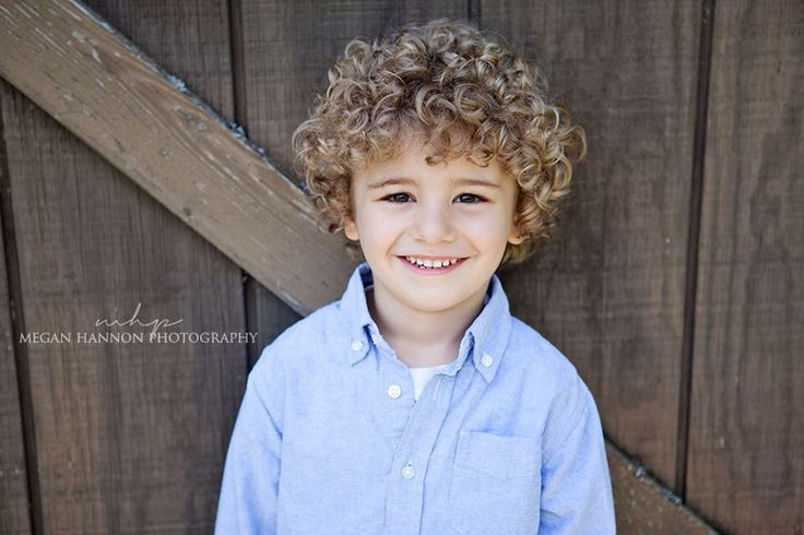 Hairstyle for baby boy with curly hair