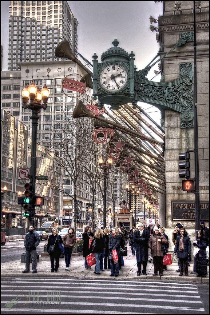 Holiday Season at Macy's (Old Marshall Field's Building), Chicago, Illinois