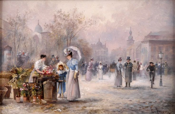 Фото: Цветочный рынок Живопись:Эмиль Барбарини