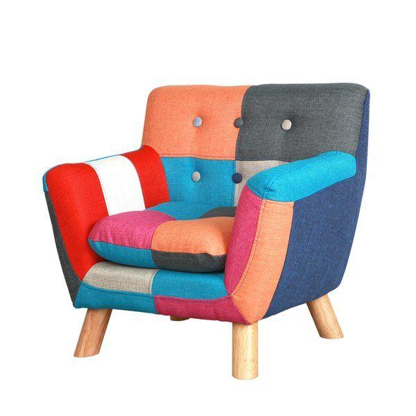 Jacey Patchwork Kids Foam Chair Kids Chairs Patchwork Chair Patchwork Armchair