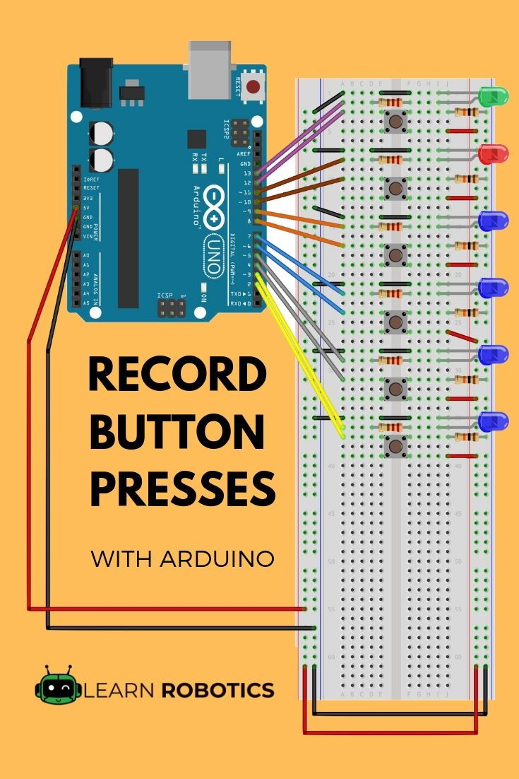 How to Record a Push Button Sequence with Arduino | Arduino