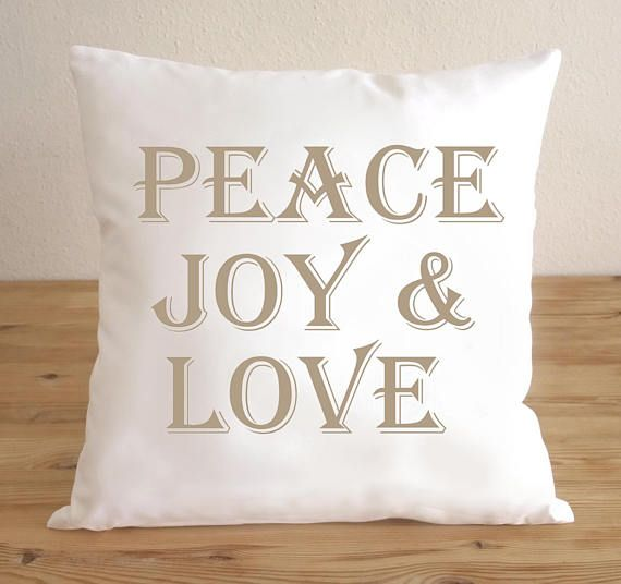 Christmas Gifts Pillow Cover Peace Joy And Love Decoration