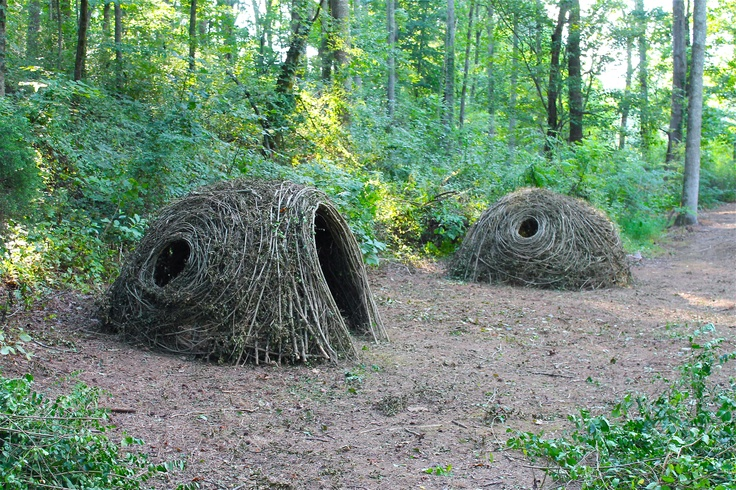 """""""Twigloos""""Play space for kids. Stick sculpture by Kelly Brown, Bower Bird Sculpture"""
