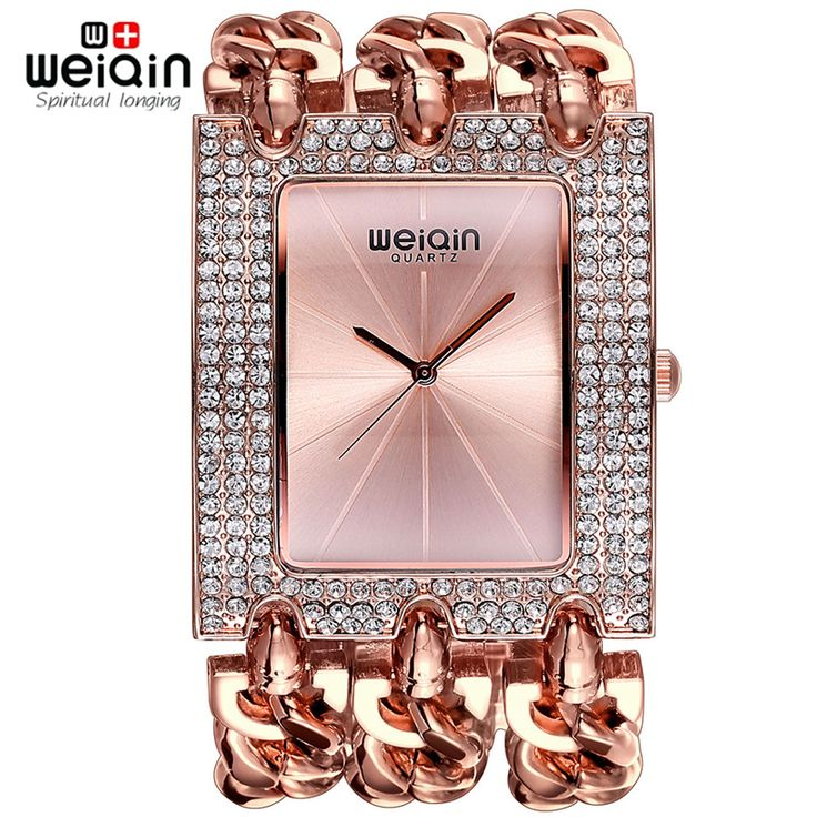 WEIQIN Ladies Bracelet Watch With Silver Rhinestone Square Dial //Price: $56.08 & FREE Shipping //     #hashtag2