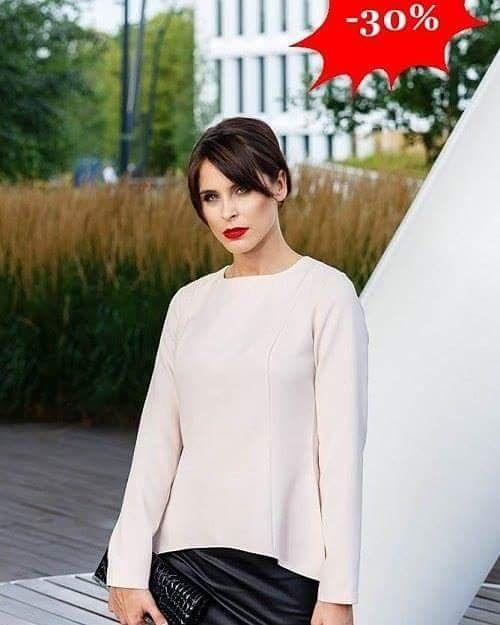 Elegancka asymetryczna bluzka damska   Idealne połączenie z klasyczną spódnicą  -30%  http://ift.tt/2fW6Vdn