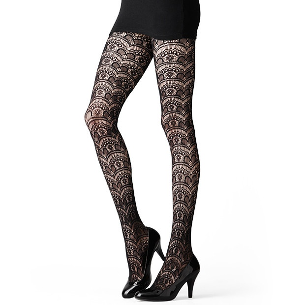 Scalloped Heart Pattern Tights from Target