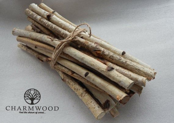 Farmoo Craft Sticks Birch Log Wood Pieces for DIY Crafts Photo Props