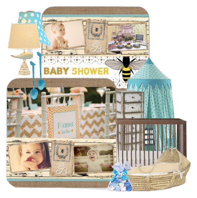 Baby Shower by betiboop8 on Polyvore featuring interior, interiors, interior design, home, home decor, interior decorating, Sabre and babyshower