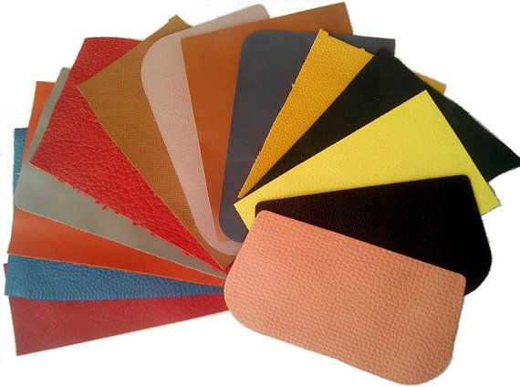 Leather Scrap Pieces  Mixed Colours  250 grams  by TorallyBeads