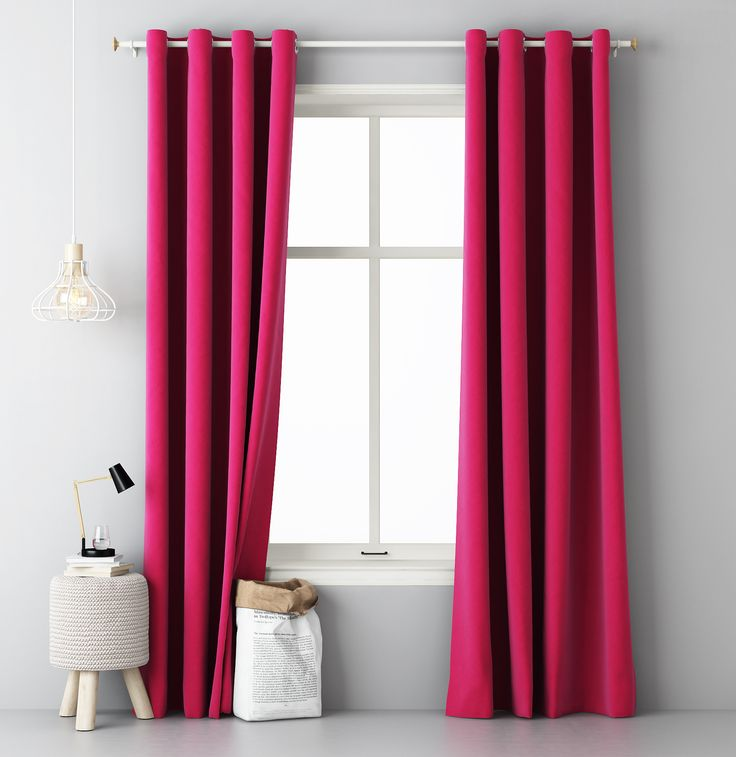 Moderné závesy ružovej farby