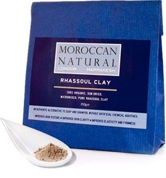 Moroccan Natural - 100% Άργιλος Rhassoul 200gr    O Άργιλος Rhassoul έχει χρησιμοποιηθεί για πάνω από 1400 χρόνια ως καθαριστικό για τα μαλλιά και την επιδερμίδα.  Τέλεια θεραπεία κατά της ακμής!  Οι πολύτιμες ιδιότητες του ορυκτού Rhassoul Clay μελετήθηκαν εκτενώς και παρουσιάστηκαν στην 12η συνεδρίαση του Εθνικού Ινστιτούτου Φυτοθεραπείας στο Παρίσι το 1985 . Περιέχει ένα υψηλό ποσοστό του διοξειδίου του πυριτίου, μαγνησίου, καλίου και ασβεστίου. Χωρίς Parabens , χωρίς τεχνητά χημικά…
