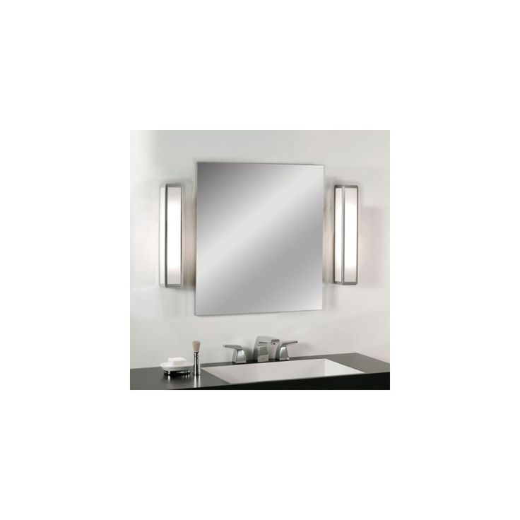 Photo Album For Website The Mashiko bathroom wall light has a polished chrome finish and a white glass diffuser The product is rated suitable for bathroom zones and