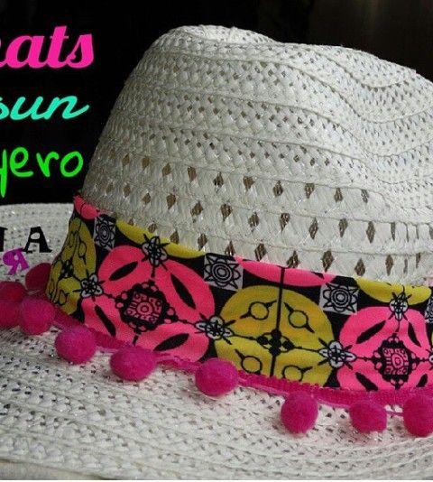 Sombrero de playa decorado