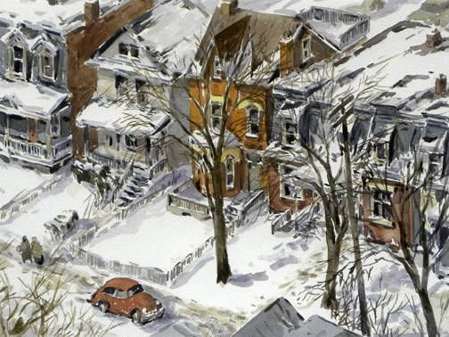 Artist: Arto Yuzbasiyan, Title: HOUSES IN CABBAGETOWN - click for larger image