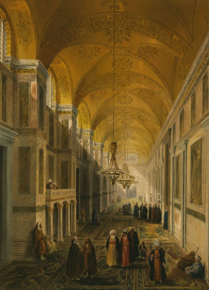 Ayasofya Camii; Chevalier Gaspard Fossati, 1852