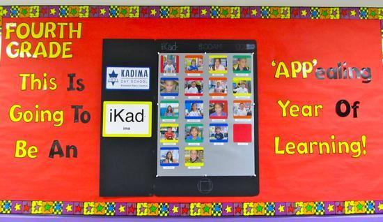 Elementary, Middle School, and High School Technology Back to School Bulletin Board Idea