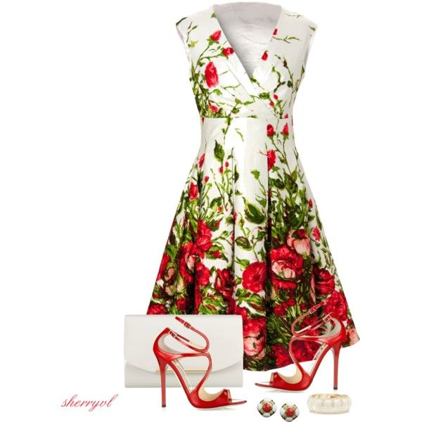 """""""Floral Print Dress Contest"""" by sherryvl on Polyvore"""