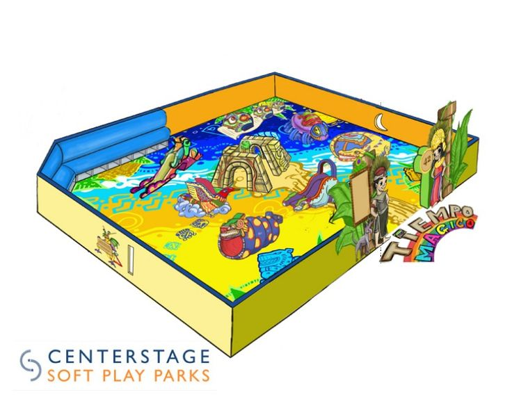 Computer Aided Renderings of the soft play park we created for Pacific View Mall.