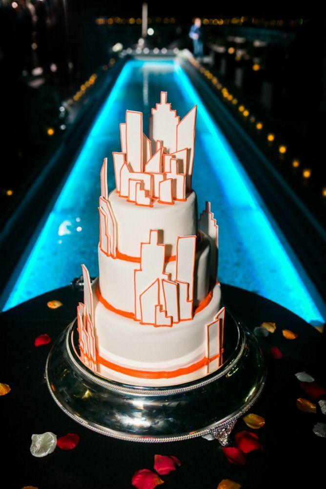 City Of New York Wedding Cake Modern Jewish MazelTov