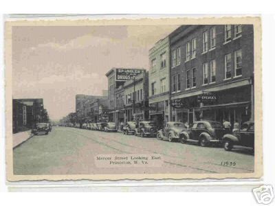 Princeton, West Virginia . . .Mercer Street, about 1940's maybe . .