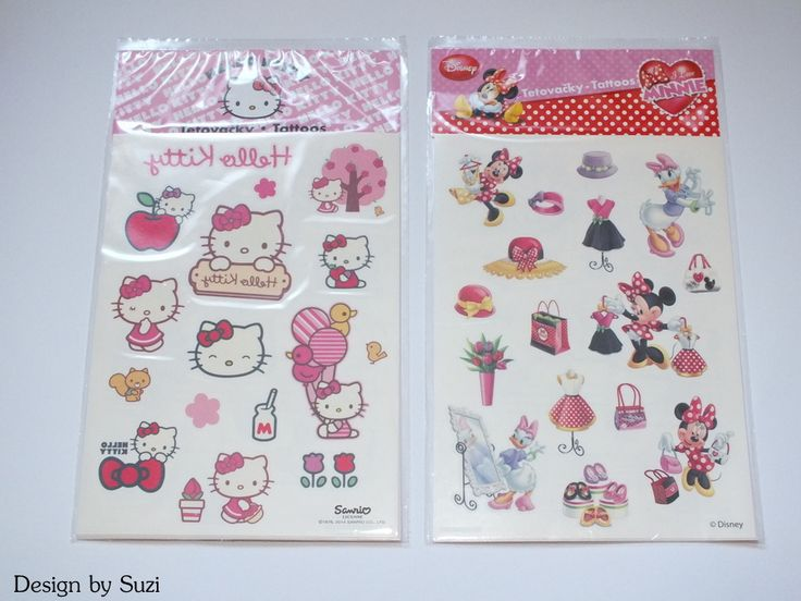 Disney & Hello Kitty tatoos (Lidl)