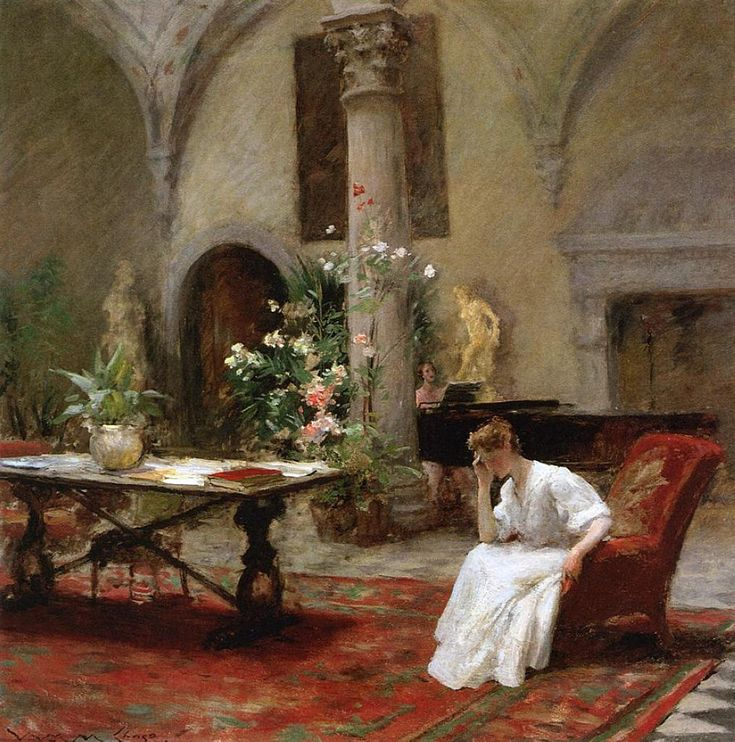 "lionofchaeronea: "" The Song, William Merritt Chase, 1907 """