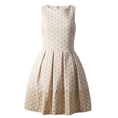 Almari Polka Dot Flared Dress