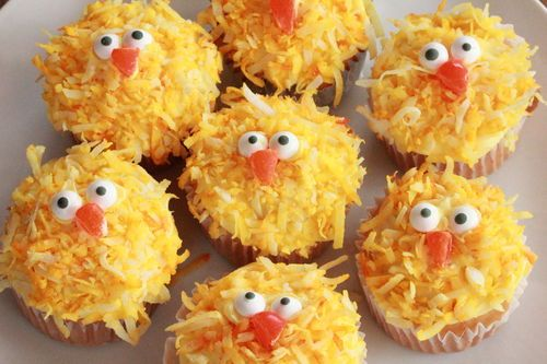 Easter Chick Cupcakes - Super Easy....can also be used for a farm themed children's birthday party.