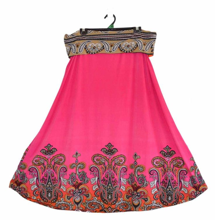 Free Postage (size 20) Millers Skirt - Plus Size - Hot Pink Paisley Velour