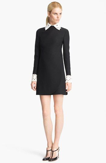 Valentino Embroidered Collar Dress available at #Nordstrom