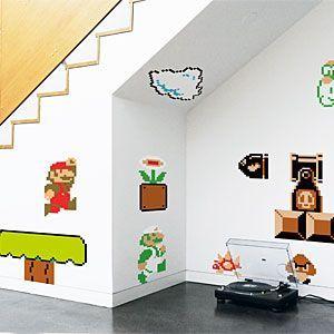 Nintendo Super Mario Bros. Wall Graphics   ThinkGeek