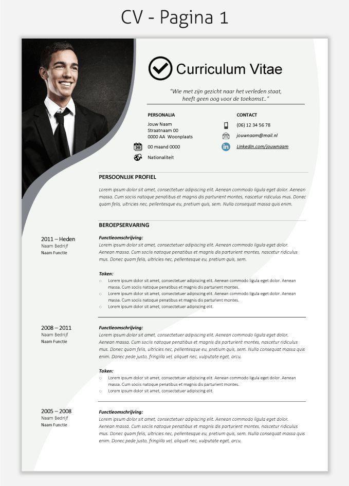 CV template 222 om te downloaden
