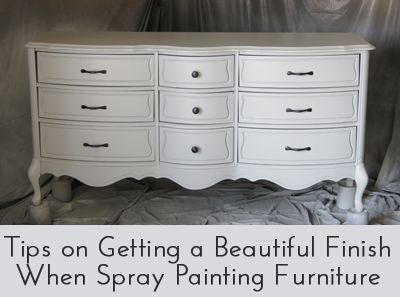 How to get a beautiful finish spray painting furniture