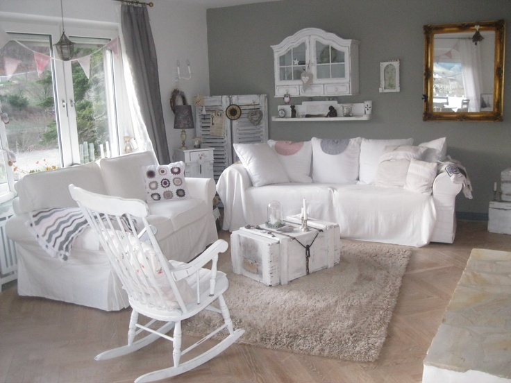 shabby style wohnzimmer. Black Bedroom Furniture Sets. Home Design Ideas