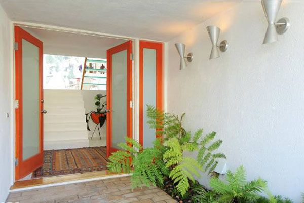 28 best mid century modern cannell chaffin interior for Front doors that let in light