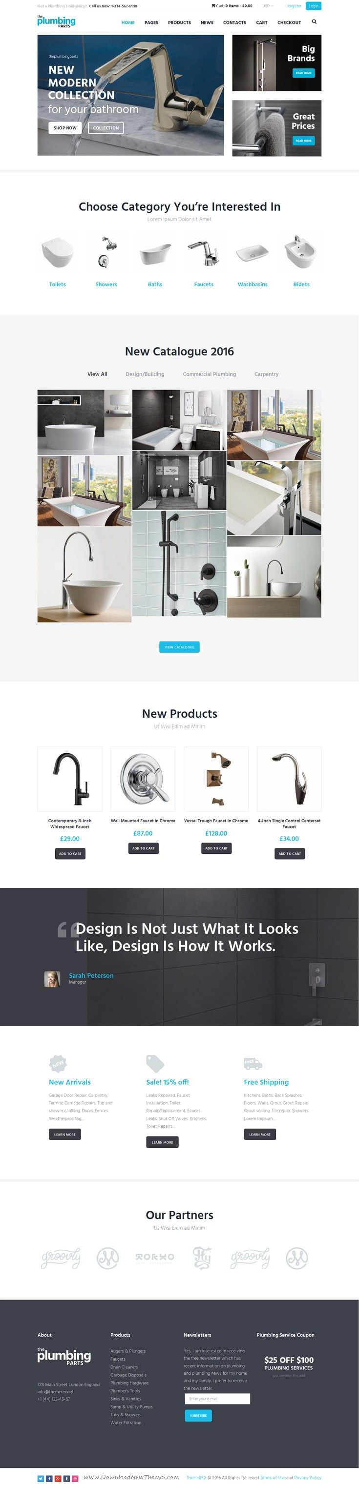 Beautiful responsive WordPress eCommerce theme for any home #repair and maintenance business: #plumbing, carpentry, remodeling & #renovation, construction #website. Download Now!