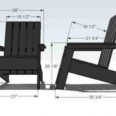 Tall Adirondack Chair Plans -